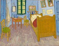 The smaller of Van Gogh's three almost identical Bedroom at Arles paintings is on display at the Musée d'Orsay in Paris. Art Van, Van Gogh Art, Vincent Van Gogh, Henri De Toulouse-lautrec, Van Gogh Pinturas, Artist Bedroom, Kunst Poster, Poster Poster, Poster Wall