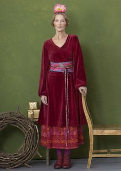 Gorgeous velour – Gudrun Sjödén – Swedish design with a green soul & online Ethnic Fashion, Boho Fashion, Colourful Outfits, Colorful Clothes, Hippie Goth, Gudrun, Kinds Of Fabric, Ageless Beauty, Swedish Design