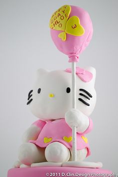 Hello Kitty Cake with balloon