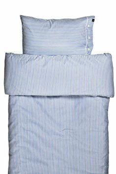 Klassisk oxford stribet sengetøj i blåt og hvidt fra Himla - Covermepure