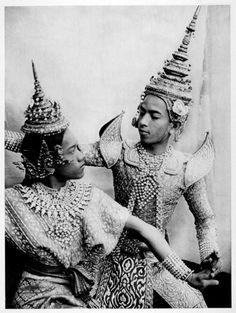 Dancers of The Royal Ballet, Thailand, 1925.