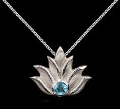 Handmade Lotus flower pendant from Andrea Lopresti Fine Jewelry. Part of the Lotus Collection. Available on Etsy: https://www.etsy.com/listing/249812675/lotus-flower-pendant-lotus-necklace?ref=shop_home_active_1