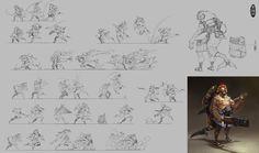 shushi chef modelsheet, Herman Ng on ArtStation at… 2d Character, Character Concept, Character Design, Monster Concept Art, Artist Journal, Action Poses, Storyboard, Game Art, Storytelling