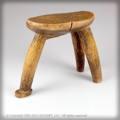Old Lobi African Wood Stool Burkina Faso | eBay
