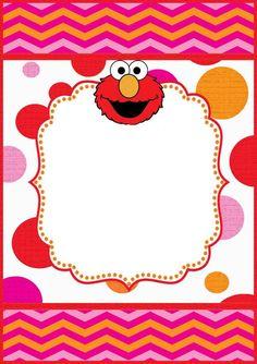 Elmo Invitation Designs - Collection Of Unique Invitation Sentences Sesame Street Birthday Invitations, Hello Kitty Invitations, Elmo Birthday Invitations, Elmo First Birthday, 1st Birthday Parties, Birthday Ideas, Free Printable Invitations Templates, Invitations Online, Templates Free