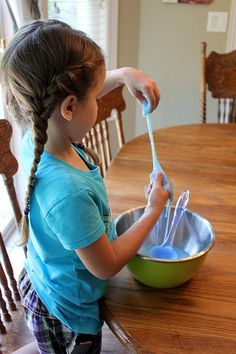 Looking for a fun activity for summer (or anytime)? Make homemade Flubber. My kids had a blast with it!