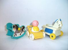 Vintage Fisher Price Nursery Little Riders Baby by RetroClassics, $14.99