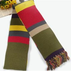 Doctor Who Licensed Fourth 4th 6' DELUXE Tom Baker Striped scarves acrylic winter brand scarf men blanket scarf 16*180cm XM203