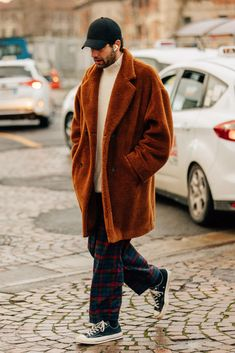 Load image into Gallery viewer, Fashion Lapel Collar Plain Thicken Woolen Coat Cool Street Fashion, Look Fashion, Winter Fashion, Fashion Design, Fashion Trends, Fashion Styles, Fashion Photo, Fashion Men, Fashion Guide