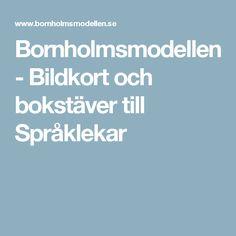 Bornholmsmodellen - Bildkort och bokstäver till Språklekar