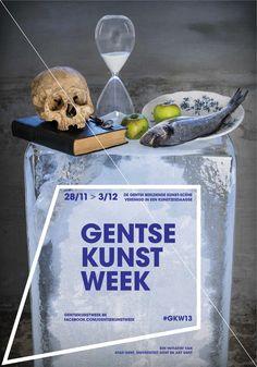 Affiche voor de Gentse Kunstweek aka #GKW13