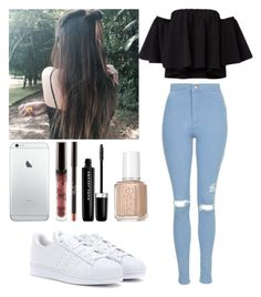 """#207"" by camiihlau ❤ liked on Polyvore featuring Topshop, adidas, Marc Jacobs and Essie"