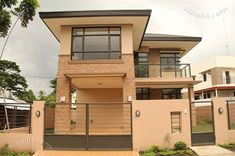 Real Estate Davao Two Naomi House Model Two Story House Design, 2 Storey House Design, Two Storey House, Small House Design, Modern House Design, Duplex Design, Modern Houses, Modern House Floor Plans, Dream House Plans