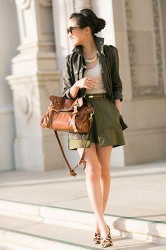 Safari :: Olive skort & Ruffle jacket :: Wendy's Lookbook