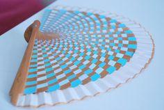abanico fan blue