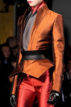 Haider Ackermann Fall 2012 - Details...Wow , luv the jacket details, colors, wow,wow, & more wow!!!