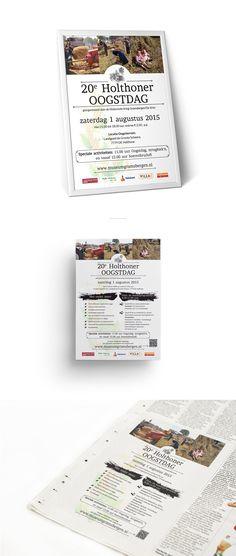 Poster, flyer en advertentie voor de 20e Holthoner Oogstdag