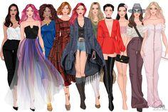 Fashion illustration by Teya Bozhilova :::SKETCH DIVAS :::