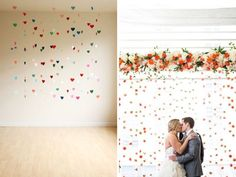 Floating objects wall - 31 Best Wedding Wall Decoration Ideas - EverAfterGuide