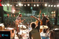 The Avett Brothers perform during the Double Decker Arts Festival in Oxford, MS.