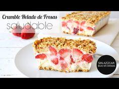 Postres Saludables Crumble helado de yogurt y fresas saludable