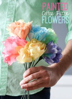 Paint Coffee Filter Flowers!