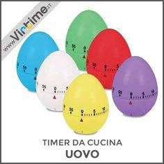 """Timer da cucina meccanico. Modello """"Uovo"""" in 6 colori assortiti: Rosso, Bianco, GIallo, Azzurro, Lilla e Verde. Confezione: PVC Box Trasparente """"Virtime"""". Dimensione: H. 7 Diam. 6 cmRef. 8057/00  #Virtime #virtimeclock #virtimehome #milan #italy #italiandesign #interiordesign #decoring #italianfurniture #house #homeart #buyfurniture #homedecor #tools #creative #furnituredesign #detail #homedecoration #decoration #designideas #nofilter #unique #furniture #materials #decorating #timer #eggs…"""
