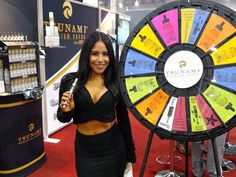 We are giving away free Gourmet E-Liquid at our booth! Everybody is a winner, just spin our prize wheel and you will win whatever prize it lands on. Buy this Prize Wheel at https://PrizeWheel.com/products/floor-prize-wheels/floor-and-table-prize-wheel-12-24-slot-adaptable/.
