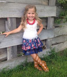 Our+Brynn+skirt+is+perfect+for+your+Cutey+Patutey+to+twirl+in!!!+This+blue+and+red+floral+printed+skirt+is+so+full+and+beautiful!+Fully+lined+and+also+has+a+lace+layer!+Great+for+summer+with+some+sandals+and+also+for+fall/winter+paired+with+leggings+and+boots!!!+    Available+in+sizes+2T-6/7    *...