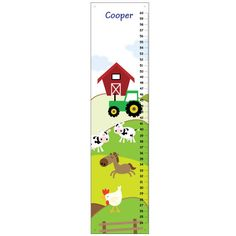 Personalized baby boy Growth Chart ,Farm Animals Cow Horse Tractor, Kids Bedroom Baby Nursery Wall A Baby Boy Rooms, Baby Bedroom, Baby Boy Nurseries, Kids Bedroom, Bedroom Ideas, Baby Boy Growth Chart, Growth Charts, Personalized Growth Chart, Personalized Baby
