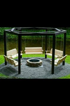 Perfect!! Swings and a fire pit