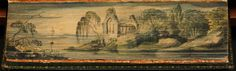 Fore-edge paintings: 'Poems by William Cowper, Esq., v.1', 1808, by William Cowper
