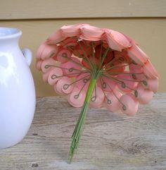 underside of paper bouquet