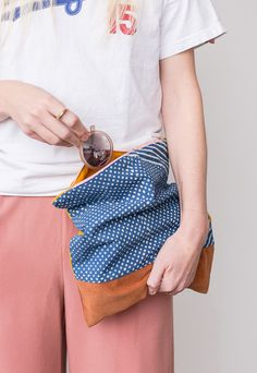 How to Sew a (Patchwork) DIY Foldover Clutch