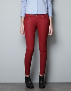 COATED TROUSERS - Jeans - Woman - ZARA United States