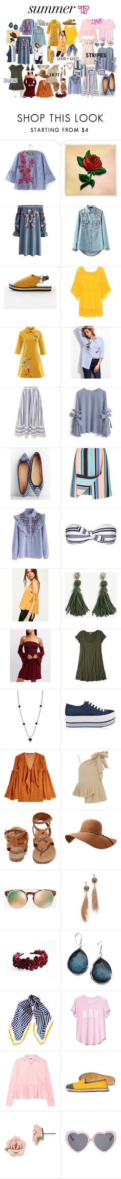 Summer '17 by rebellok on Polyvore featuring Plein Sud Jeanius, Chicwish, Hollister Co., Charlotte Russe, Roberto Cavalli, Sea, New York, MSGM, Missguided, WithChic and Opening Ceremony