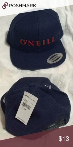 f3cd7c8518b Men s O Neill hat NWT Navy hat with red embroidered logo. Snap closure.