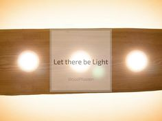 Let there be light - Wooden Lamp, Innovation, Wall Lights, Let It Be, Instagram Posts, Projects, Furniture, Log Projects, Appliques
