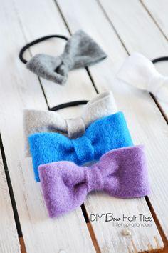 DIY Bow Hair Ties » Little Inspiration