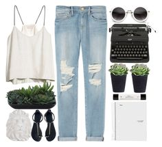 """""""// life of the party"""" by unicornskitkat ❤ liked on Polyvore featuring Zara Home, H&M, Frame Denim, Lux-Art Silks, Giuseppe Zanotti and philosophy"""