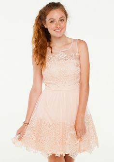 Ava lace trim dress