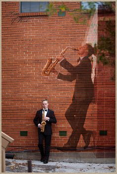 Click the pic for 6 ideas posing senior pictures for boys, marching band, saxophone, urban, RR tracks, Dallas, Flower Mound Photographer