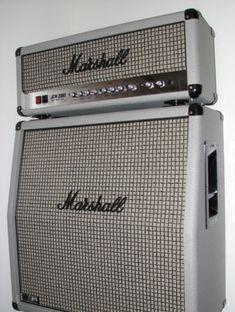 Serious tone. Saw Joe B play one. 2005 Marshall Silver Limited Edition DSL 100 JCM 2000 Guitar Amp Amplifier Plexi | eBay