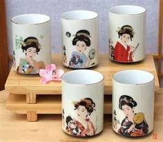 Japanese tea cup Geishas - saw them at Como but super expensive