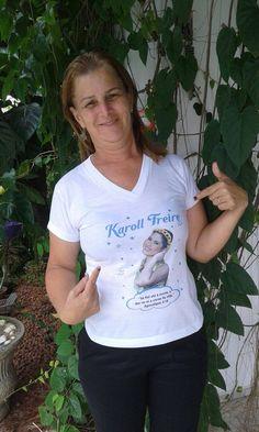 Camiseta da guerreira Karoll Freire por R$25,00 cada + Frete. Faça sua encomenda pelo telefone/whatsapp (84) 988058496