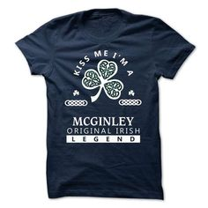 MCGINLEY - KISS ME I\M Team - #gift for teens #husband gift. OBTAIN LOWEST PRICE => https://www.sunfrog.com/Valentines/-MCGINLEY--KISS-ME-IM-Team.html?68278