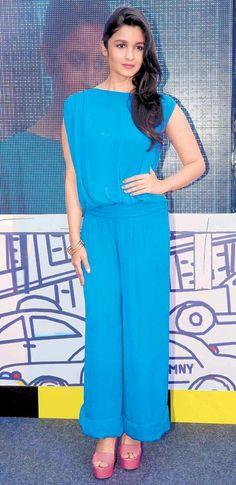 Alia Bhatt in blue #Bollywood #Fashion #Style #Beauty