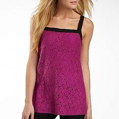 nicole by Nicole Miller® Colorblock Lace Top - jcpenney