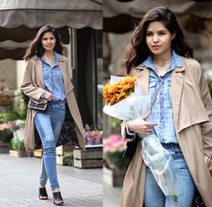 Get this look: http://lb.nu/look/7246956  More looks by Adriana Gastélum: http://lb.nu/bagt  Items in this look:  Sheinside Patched Jeans, Reiss Leopard Clutch, Rue Gembon Infinity Necklace, Zara Trench Coat   #casual #chic #classic #mules #zara #sheinside #denim #doubledenim #trenchcoat