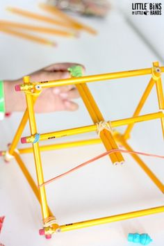Number 2 Pencil Catapult for back To School STEM